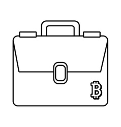 Man briefcase with letter graphic vector