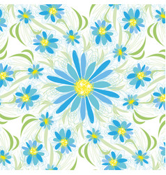Abstract vintage seamless flower pattern vector