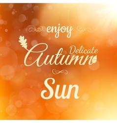 Autumn poster eps 10 vector