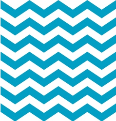 Beautiful aqua blue and white chevron pattern vector image vector image