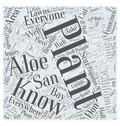 Benefits of aloe vera word cloud concept vector