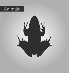 Black and white style icon of toad vector
