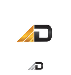business letter d vector image