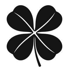 Clover leaf icon simple style vector image vector image
