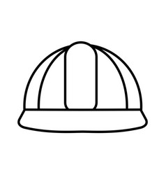 Construction helmet isolated icon vector