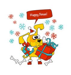 Cool yellow dog mascot cartoon vector