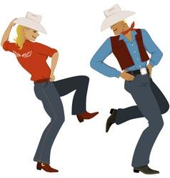 Cowboy dancing vector