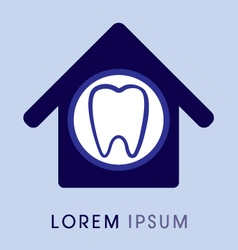 Dental home vector image