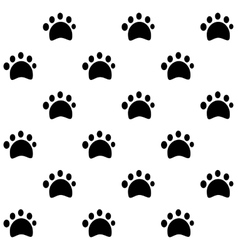 Dog tracks pattern vector