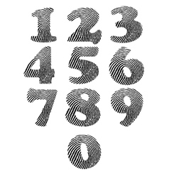 Finger print numbers vector image vector image