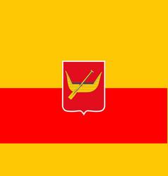 Flag of lodz poland vector
