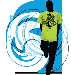 Guitar shirt vector image vector image
