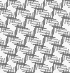 Monochrome pattern with intersecting thin lines vector image