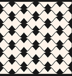 ornamental seamless pattern lines triangles bows vector image
