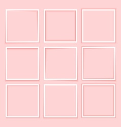Set fashion minimalist border with realistic vector image vector image