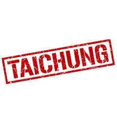 Taichung red square stamp vector