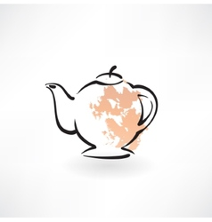 teapot grunge icon vector image vector image