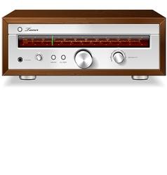 Vintage stereo analog radio vector