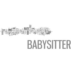 What should you pay your babysitter text word vector