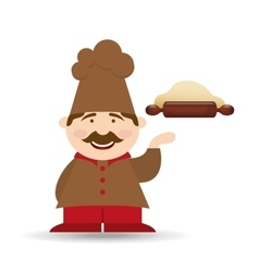 baker cooking bread vector image