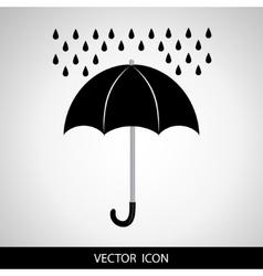 Umbrella and rain drops icon vector