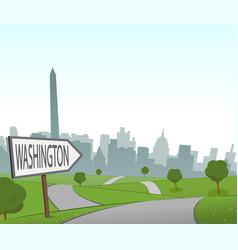 Road to washington vector