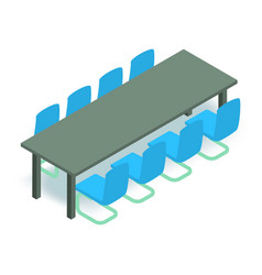 meeting table icon isometric 3d style vector image