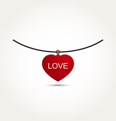 Love heart necklace vector