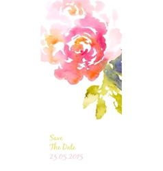 background with pink watercolor bouquet vector image