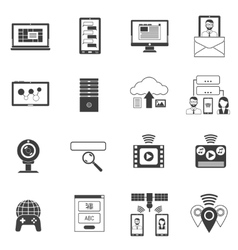 It icons black set vector