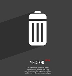 The trash icon symbol flat modern web design with vector