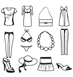 Women clothes vector