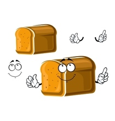 Cartoon whole grain bread character vector
