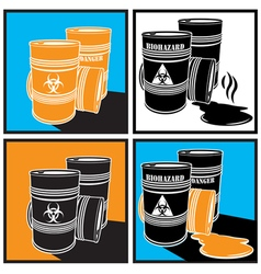 Biohazard barrels vector
