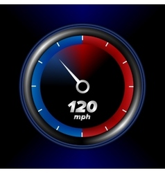 Speedometr with black background vector