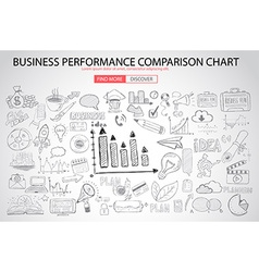Business performance comparison chart concept with vector