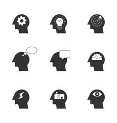 Human thinking process icons vector