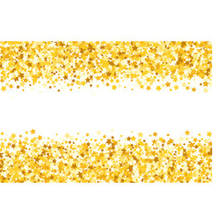 Border with shimmer stars gold sparkle golden vector