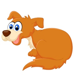 Cartoon dog sitting vector image
