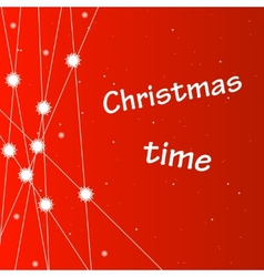 Christmas background with snowflakes and stars vector