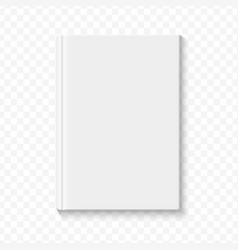 Clear white blank book cover template on the alpha vector