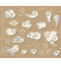 cloud doodle vector image vector image