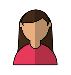 cute woman avatar character vector image