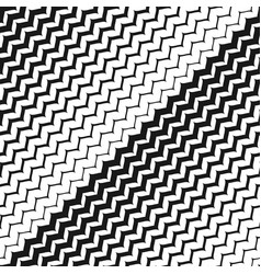 Diagonal zigzag lines seamless pattern halftone vector