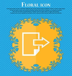 Export file icon file document symbol floral flat vector