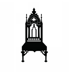 Gothic style chair with ornaments vector