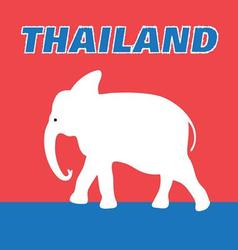 Graphic color symbol of the Kingdom of Thailand vector image
