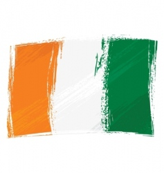 Grunge Cote d'Ivoire flag vector image vector image