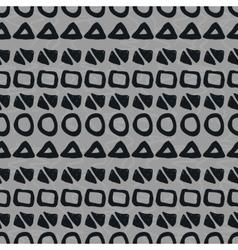 Hand-drawn geometric seamless pattern vector