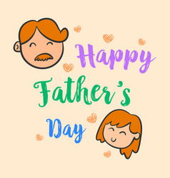 Happy father day cute style collection vector